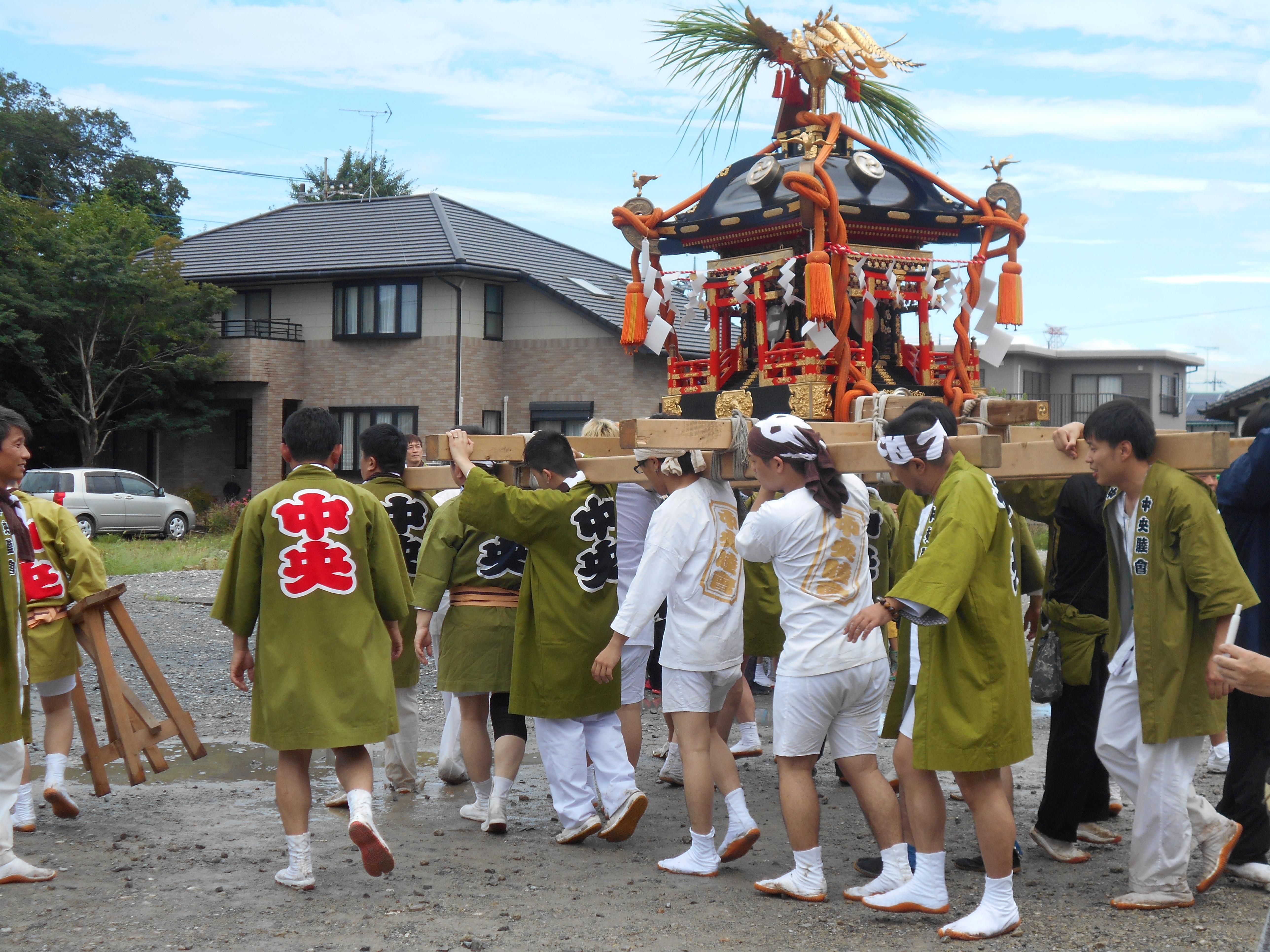 7/28 上郷祇園祭でお神輿がやってきました!